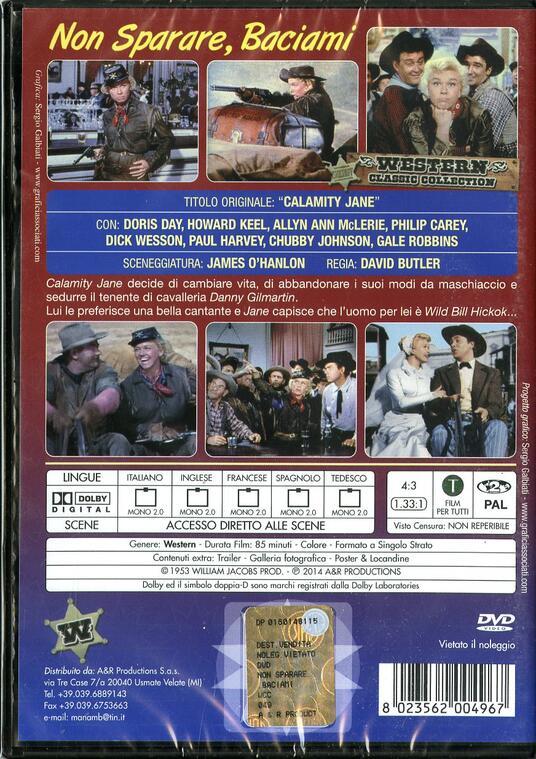 Non sparare, baciami di David Butler - DVD - 2