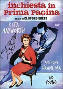 Inchiesta in prima pagina di Clifford Odets - DVD