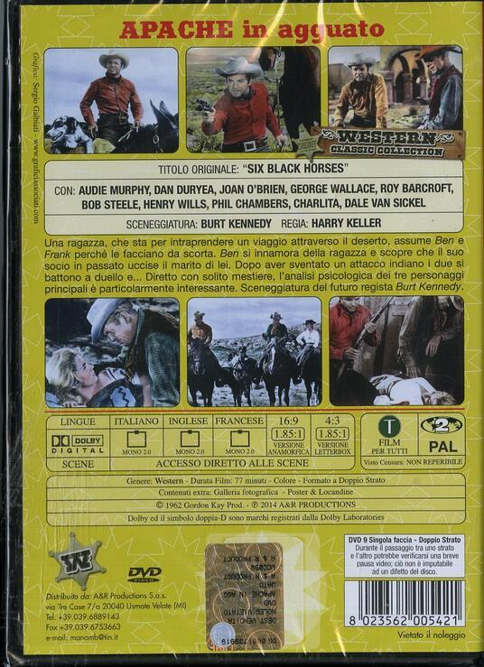 Apache in agguato di Harry Keller - DVD - 2