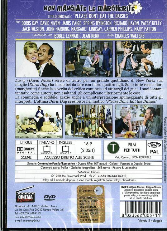 Non mangiate le margherite di Charles Walters - DVD - 2