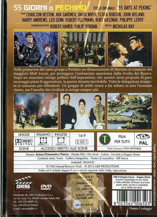 55 giorni a Pechino di Nicholas Ray - DVD - 2