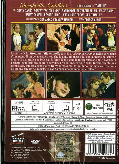 Margherita Gauthier di George Cukor,Ray C. Smallwood - DVD - 2