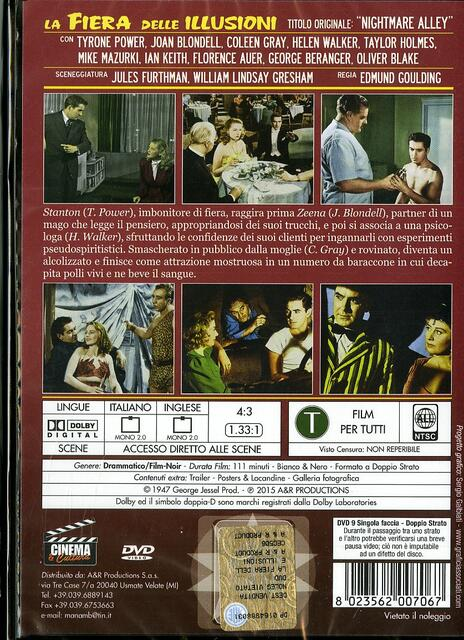 La fiera delle illusioni di Edmund Goulding - DVD - 2