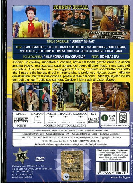 Johnny Guitar di Nicholas Ray - DVD - 2