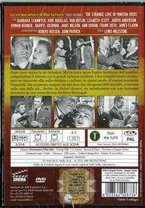 Lo strano amore di Marta Ivers di Lewis Milestone - DVD - 2