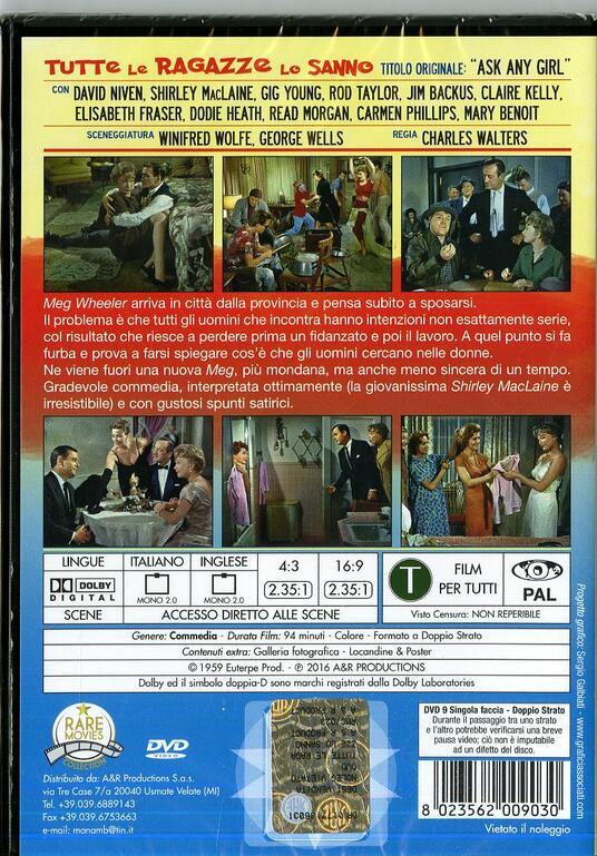 Tutte le ragazze lo sanno di Charles Walters - DVD - 2