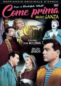 Come prima (DVD) di Rudolph Maté - DVD