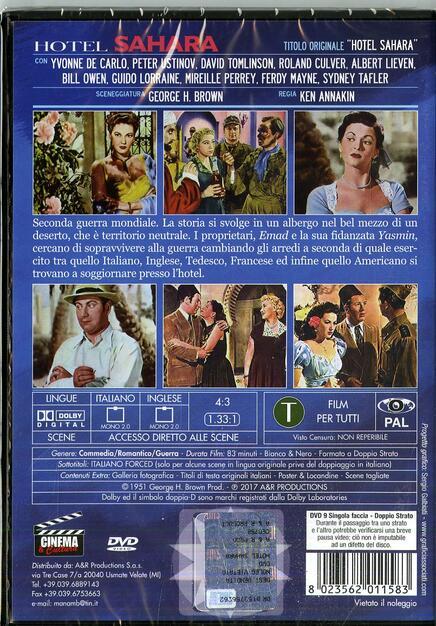 Hotel Sahara (DVD) - DVD - Film di Ken Annakin Commedia | IBS