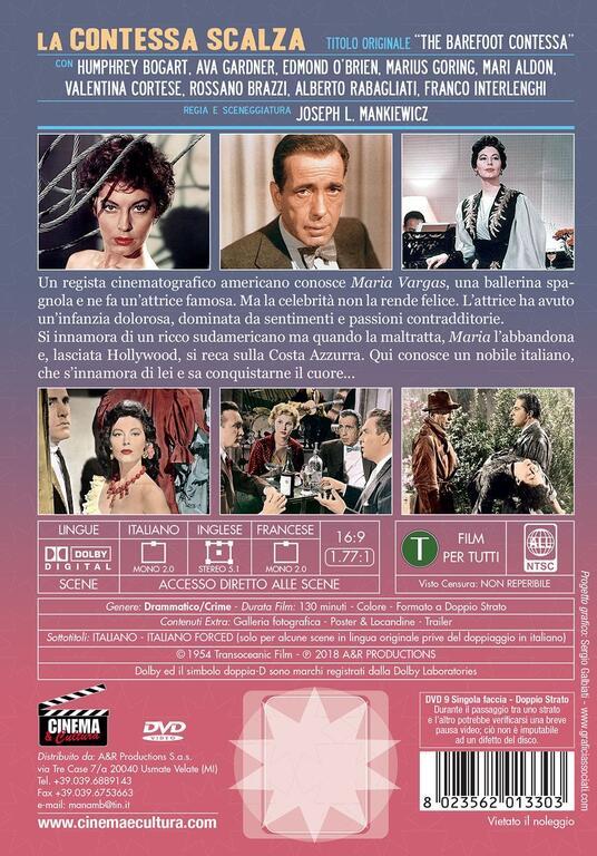 La contessa scalza (DVD) di Joseph L. Mankiewicz - DVD - 2