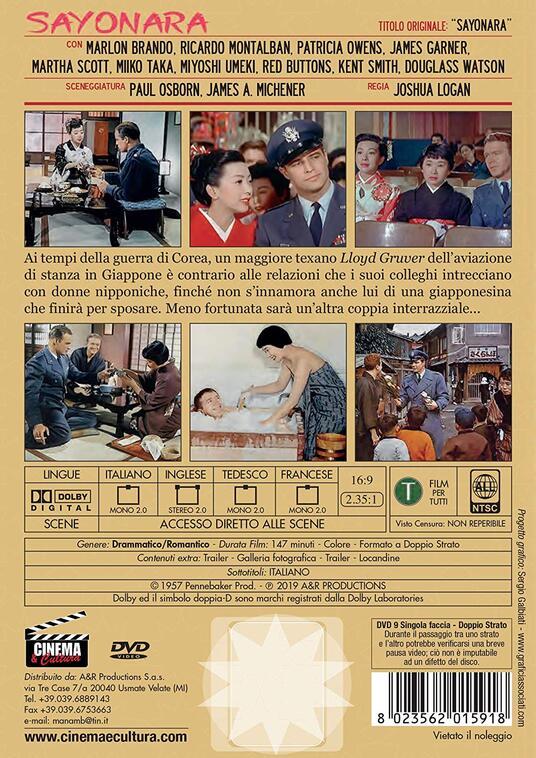 Sayonara (DVD) di Joshua Logan - DVD - 2