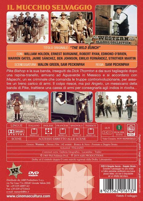 Il mucchio selvaggio (DVD) di Sam Peckinpah - DVD - 2