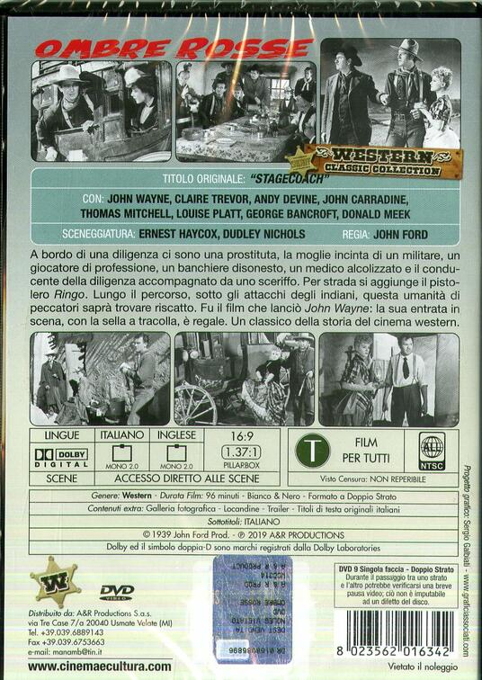 Ombre rosse (DVD) di John Ford - DVD - 2