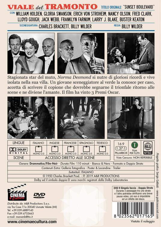 Viale del tramonto (DVD) di Billy Wilder - DVD - 2