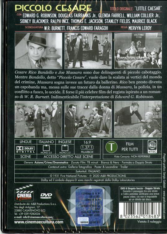 Piccolo Cesare (DVD) di Mervyn LeRoy - DVD - 2