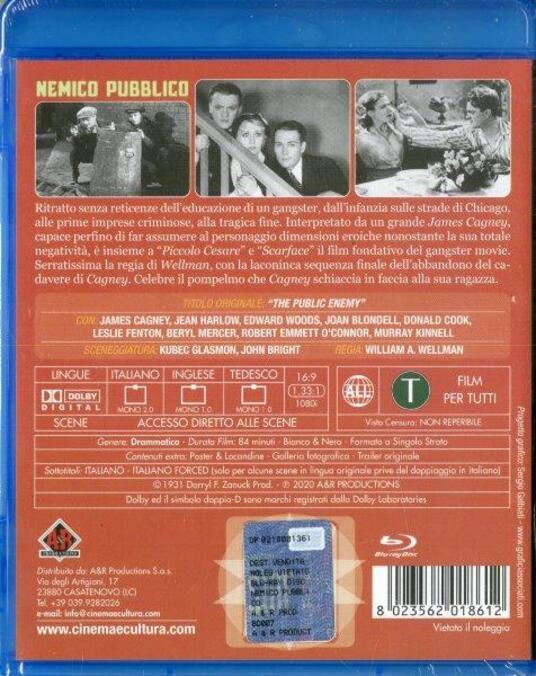 Nemico pubblico (Blu-ray) di William A. Wellman - Blu-ray - 2