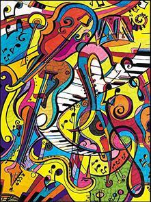 Colorvelvet. Musica, Quadro Large 47X35 Cm. L129