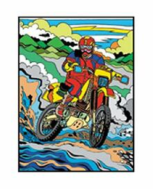 Colorvelvet M045 Disegno 37X28 Cm Motocross