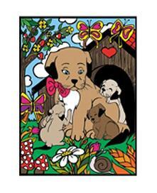 Colorvelvet M078 Disegno 37X28 Cm Cani Cuore
