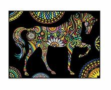 Colorvelvet L085 Disegno 47X35 Cm Cavallo Mandala