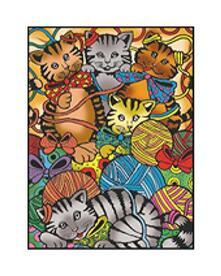 Colorvelvet M054 Disegno 37X28 Cm Gattini Gomitoli
