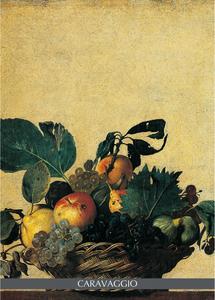 Cartoleria Notebook Caravaggio: Cesto di frutta Cartilia