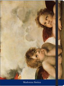 Cartoleria Notebook con elastico Raffaello: Madonna Sistina Cartilia