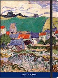 Cartoleria Notebook con elastico Van Gogh: Veduta di Auvers Cartilia