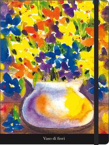 Cartoleria Notebook con elastico Luffarelli: Vaso di fiori Cartilia