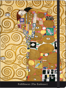 Cartoleria Notebook con elastico Klimt: L'abbraccio Cartilia