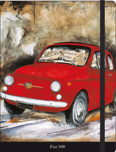 Cartoleria Notebook con elastico Lombardino: Fiat 500 Cartilia