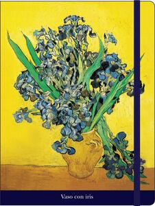 Cartoleria Notebook con elastico Van Gogh: Vaso con iris Cartilia