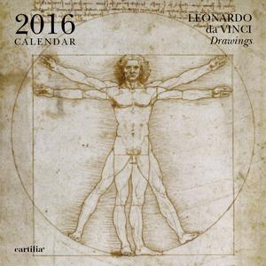Cartoleria Calendario da parete 30x30 2016: Leonardo Cartilia