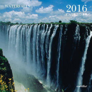Cartoleria Calendario da parete 30x30 2016: Waterfalls Cartilia