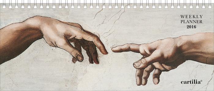 Cartoleria Planning settimanale 2016: Michelangelo Cartilia