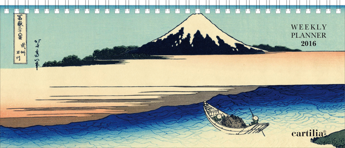 Cartoleria Planning settimanale 2016: Hokusai Cartilia