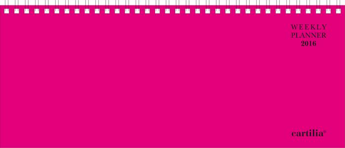 Cartoleria Planning settimanale 2016: Fucsia Cartilia
