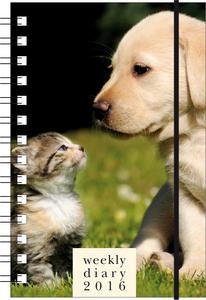 Cartoleria Agenda 12 mesi settimanale PP S 2016: Cat & Dog Cartilia