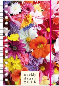 Cartoleria Agenda 12 mesi settimanale PP S 2016: Flowers Cartilia