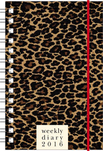 Cartoleria Agenda 12 mesi settimanale PP S 2016: Leopard Cartilia