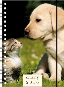Cartoleria Agenda 12 mesi giornaliera PP L 2016: Cat & dog Cartilia