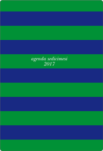 Cartoleria Diario giornaliero 2016-2017, 16 mesi, Cartilia medium Mariniere. Blue & Green Cartilia