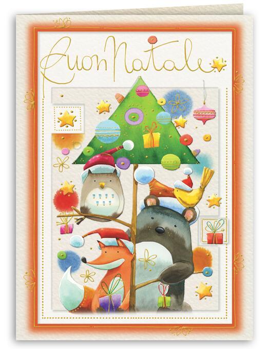 Goccioline Calendario.Biglietto Natale Goccioline