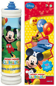 Kit Pompa Mickey + 10 Palloncini