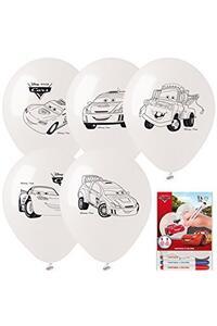 Cars. Kit Palloncini Fantasia E Colora. 5 Palloncini Con Pennarelli