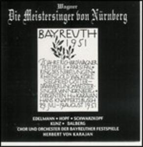 Die Meistersinger Von Nur - CD Audio di Richard Wagner