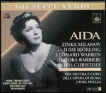 Aida - CD Audio di Giuseppe Verdi,Boris Christoff,Zinka Milanov,Fedora Barbieri,Leonard Warren,Orchestra del Teatro dell'Opera di Roma,Jonel Perlea