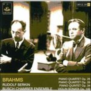 Quartetti con pianoforte op.25, op.26, op.34 - CD Audio di Johannes Brahms