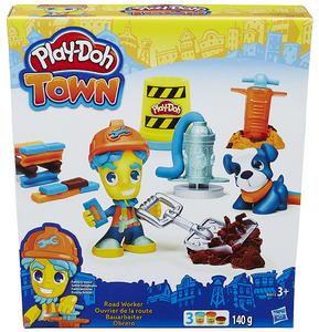 Giocattolo Play-Doh Town Operaio + Animale Hasbro 0
