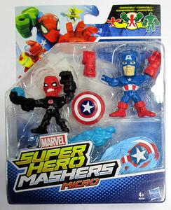 Figure Hero Micro Cpt.America Vs.Iron