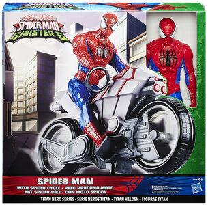 Giocattolo Figure Marvel Spiderman + Spider Cycle Hasbro